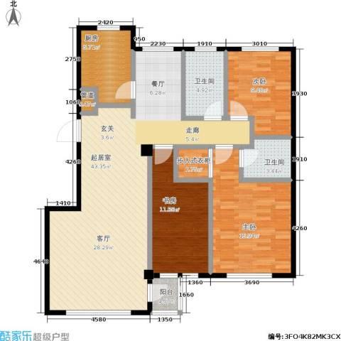 圣韬万福居二期3室0厅2卫1厨113.00㎡户型图