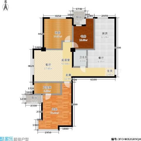 圣韬万福居二期3室0厅2卫0厨115.10㎡户型图