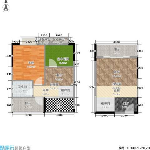 橡墅1室0厅1卫1厨131.00㎡户型图