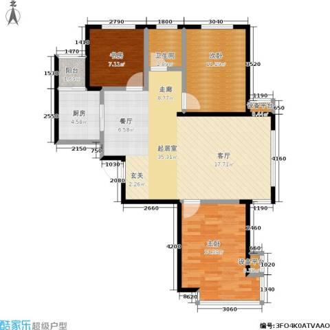 泊林映山3室0厅1卫1厨110.00㎡户型图