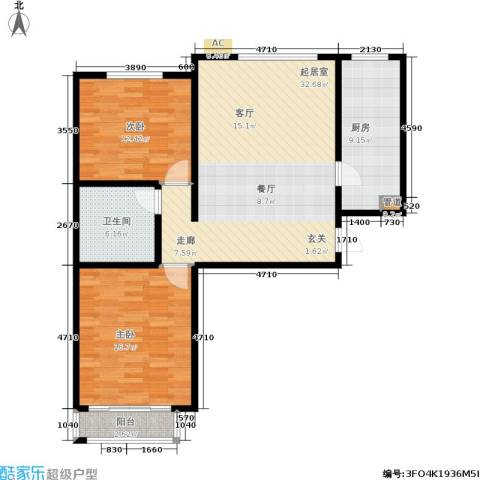 博鑫翰城2室0厅1卫1厨111.00㎡户型图