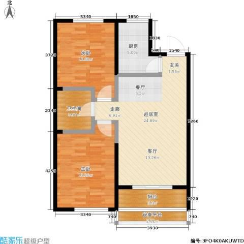 泊林映山2室0厅1卫1厨92.00㎡户型图