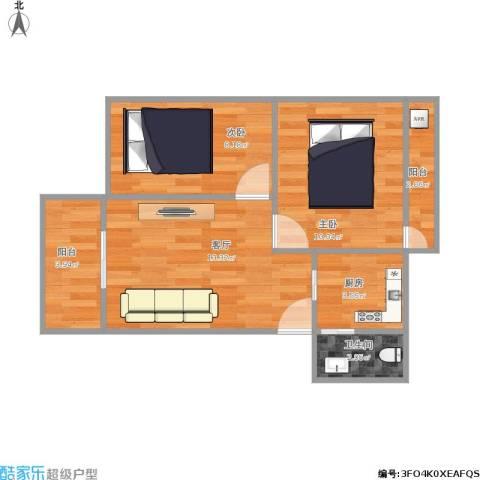 颐景苑2室1厅1卫1厨59.00㎡户型图