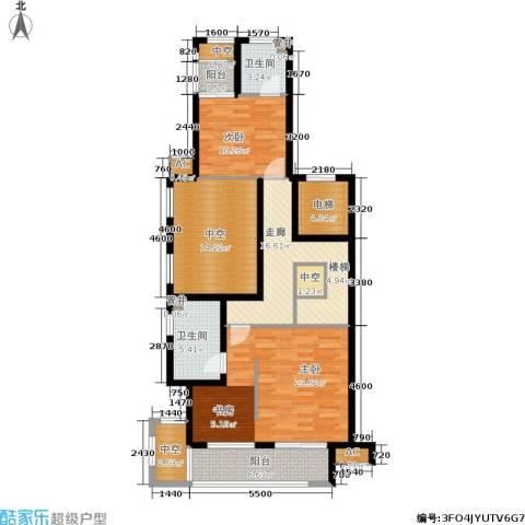 白云山庄2室0厅2卫0厨129.00㎡户型图