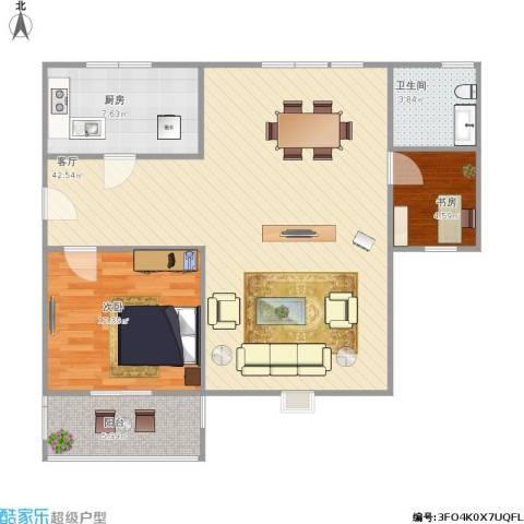 三和嘉园2室1厅1卫1厨102.00㎡户型图