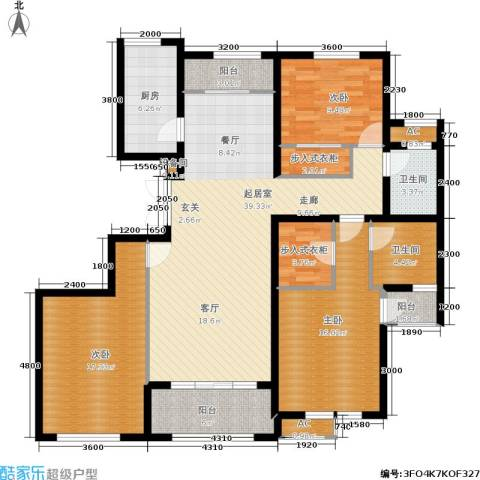 湘银纳帕溪谷3室0厅2卫1厨144.00㎡户型图