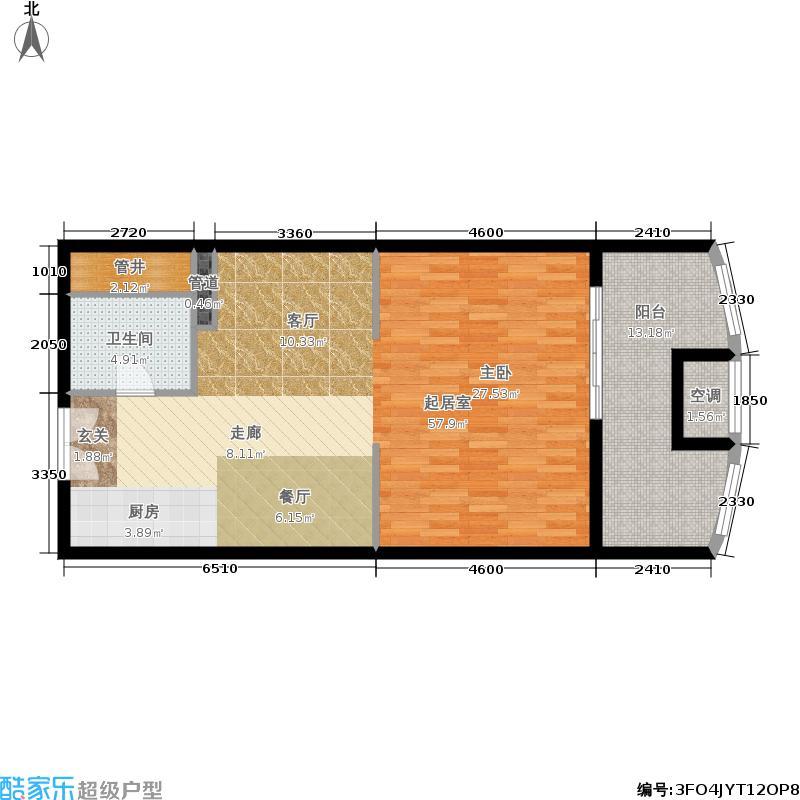禾众商业广场89.00㎡A3户型