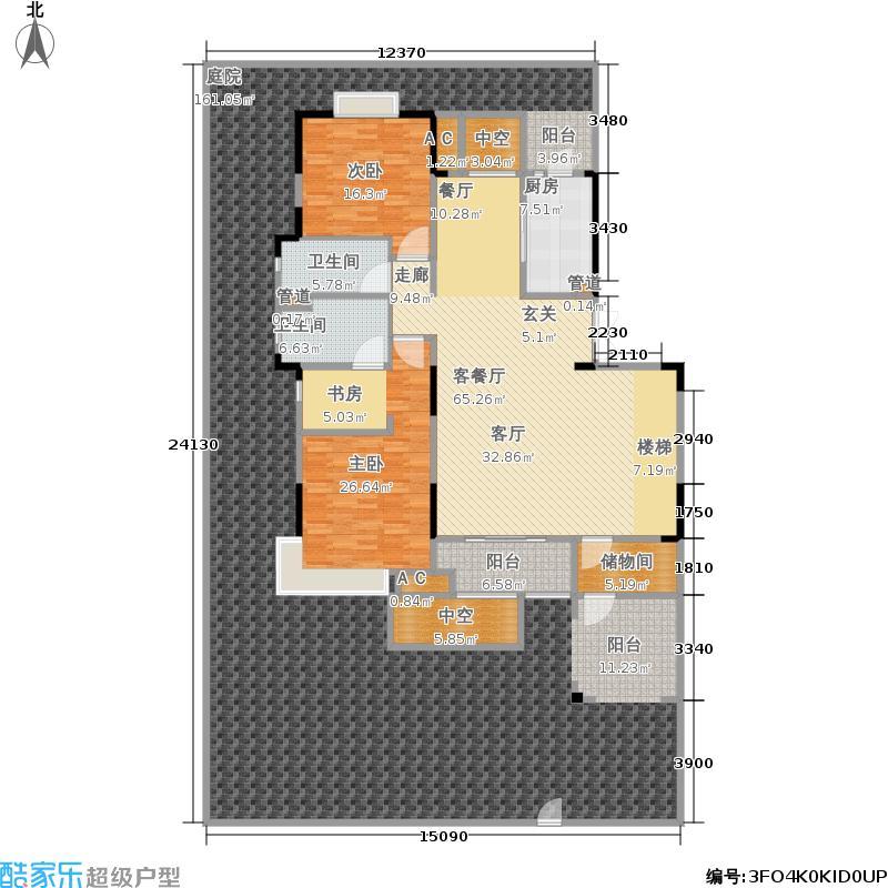 无锡万达文化旅游城167.17㎡A1一层户型