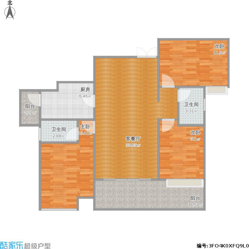 109方三室两厅