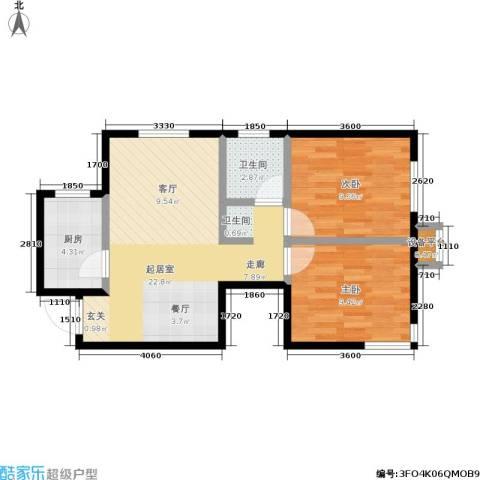 泊林映山2室0厅1卫1厨70.00㎡户型图