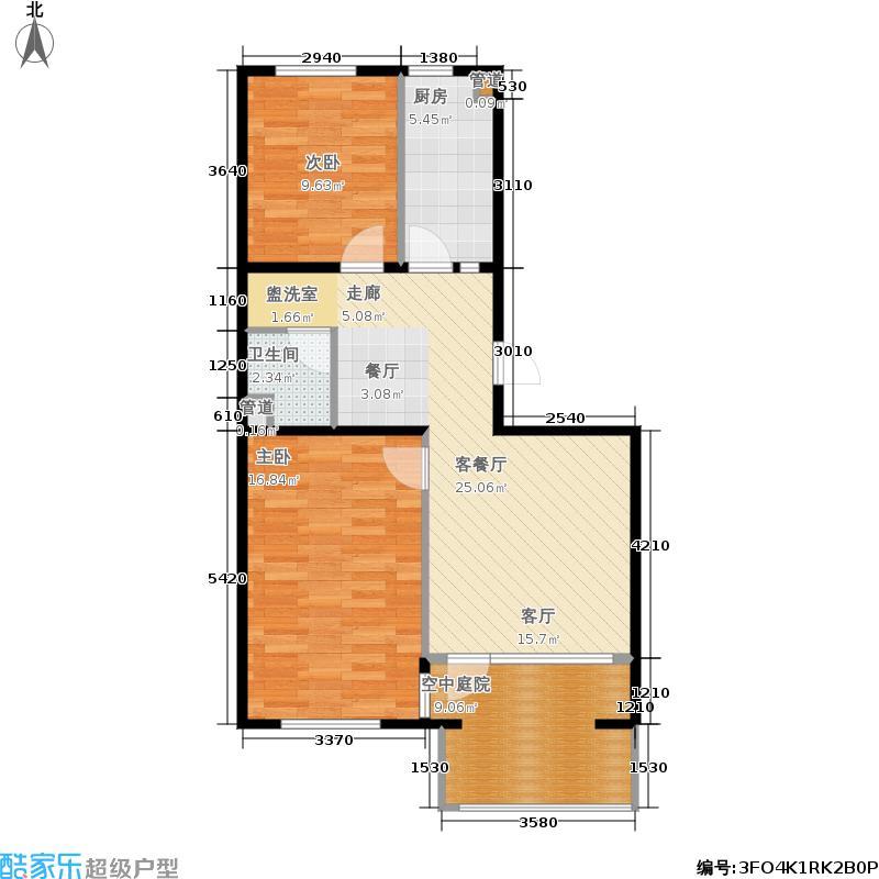 北一街8号(高教新城)87.00㎡高教新城和畅园和畅5号楼V2奇数层户型2室2厅