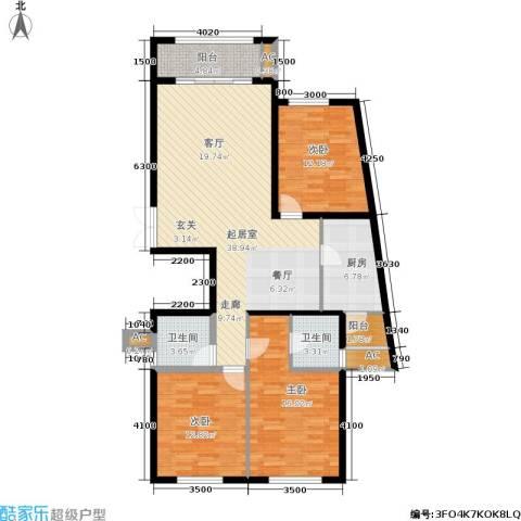 湘银纳帕溪谷3室0厅2卫1厨135.00㎡户型图