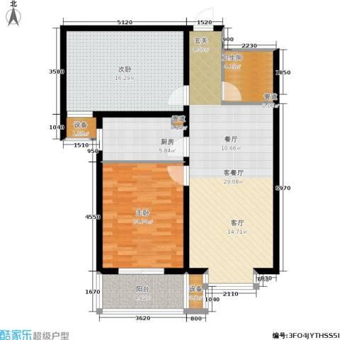 华舜学府2室1厅1卫1厨88.00㎡户型图