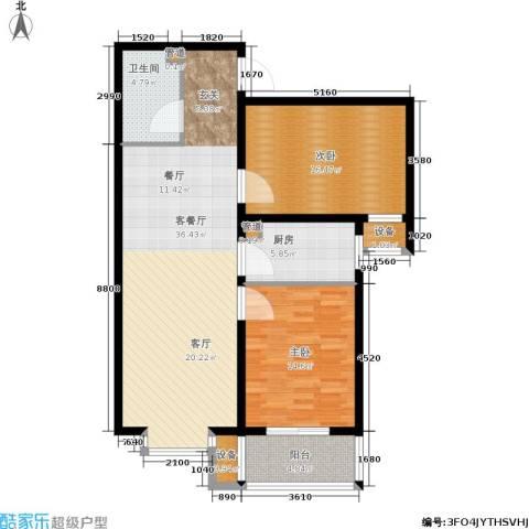华舜学府2室1厅1卫1厨97.00㎡户型图
