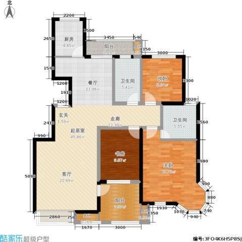 湘银纳帕溪谷3室0厅2卫1厨159.00㎡户型图