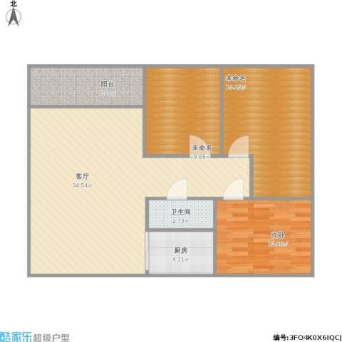 龙军花园1室1厅1卫1厨111.00㎡户型图
