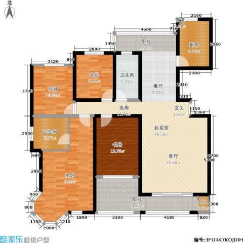 湘银纳帕溪谷4室0厅2卫1厨189.00㎡户型图