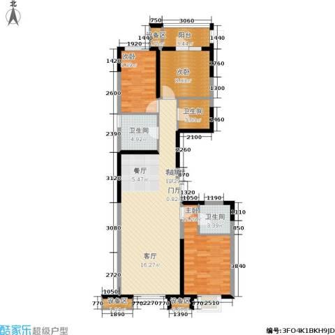 抚顺万达广场3室1厅3卫0厨118.00㎡户型图