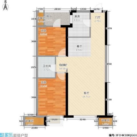 抚顺万达广场2室1厅1卫1厨101.00㎡户型图