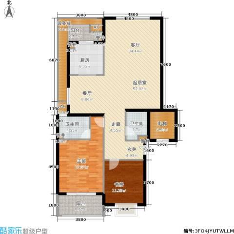 白云山庄2室0厅2卫1厨205.00㎡户型图