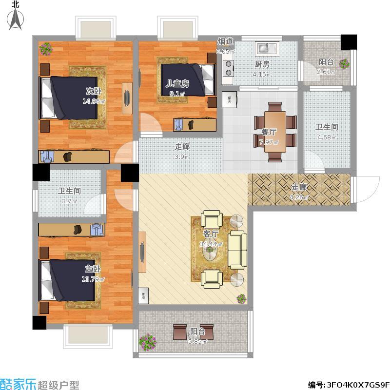 新三室二厅二卫1