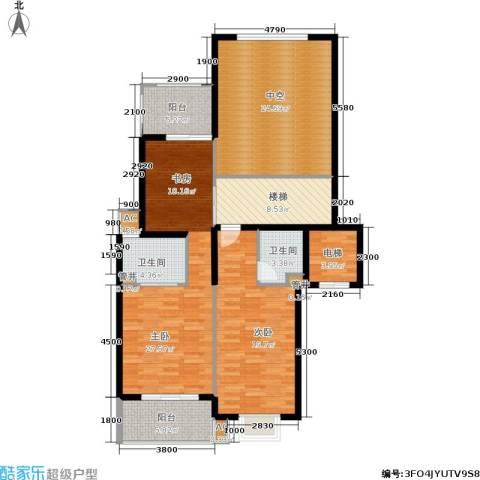 白云山庄2室0厅2卫0厨205.00㎡户型图