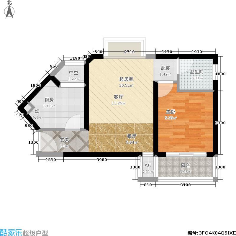 大华·锦绣海岸58.00㎡大华・锦绣海岸R1户型