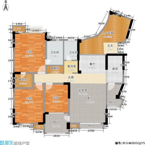 美好家园3室0厅2卫1厨148.00㎡户型图