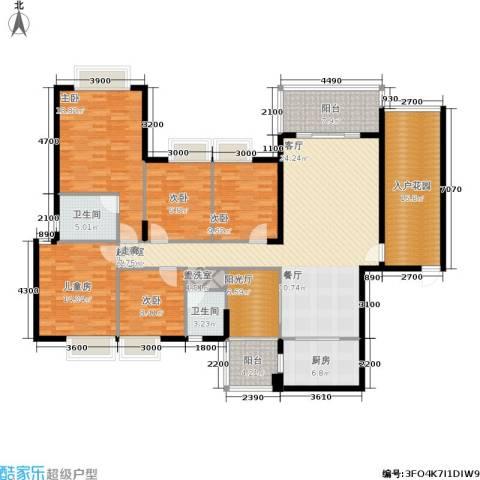 金河铭庄5室0厅2卫1厨180.00㎡户型图