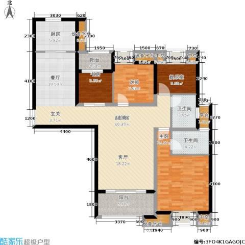融侨华府3室0厅2卫1厨135.00㎡户型图