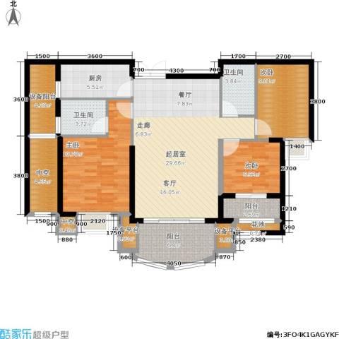 融侨华府3室0厅2卫1厨112.00㎡户型图