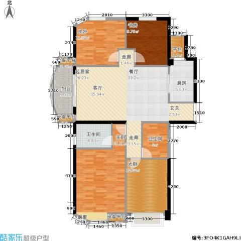 融侨华府4室0厅2卫1厨143.00㎡户型图