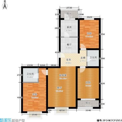 融和家园3室0厅2卫1厨111.24㎡户型图