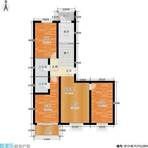 融和家园3室0厅2卫1厨104.85㎡户型图