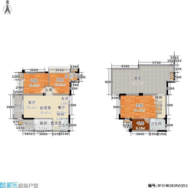 都江逸家128.00㎡11、12、18号楼A3跃层户型
