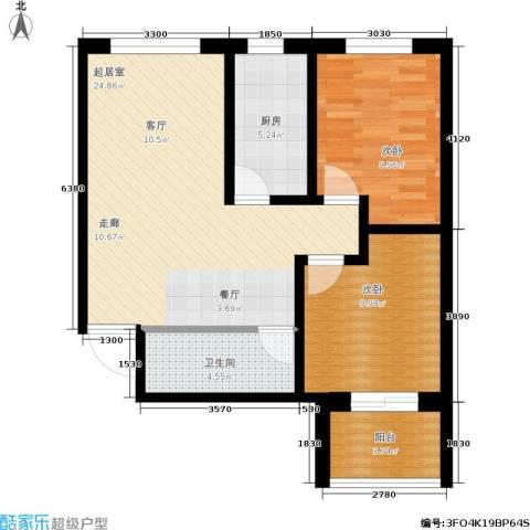 龙潭湖凤凰山庄公寓2室0厅1卫1厨85.00㎡户型图