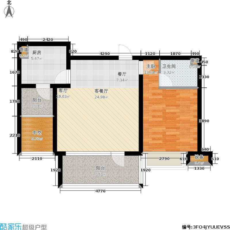 京汉君庭85.44㎡M1户型
