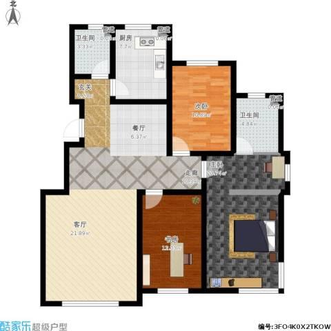 英伦小镇3室1厅2卫1厨146.00㎡户型图