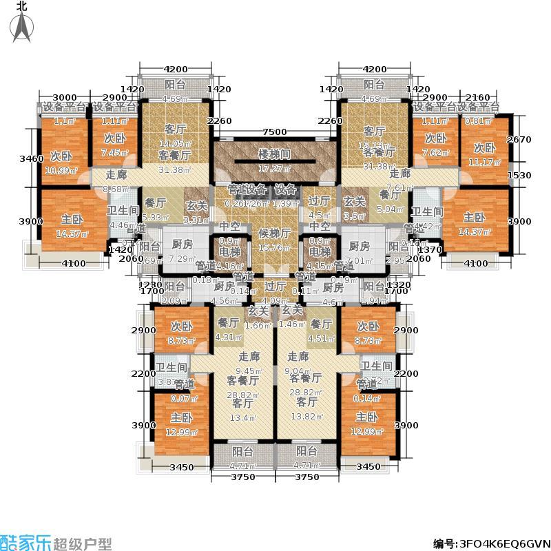 太原恒大山水城太原恒大山水城户型图6号楼1单元标准层平面示意图(3/10张)户型10室