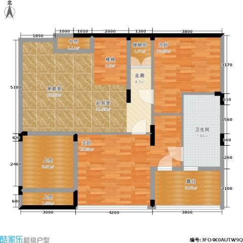 亲亲家园2室0厅1卫0厨128.00㎡户型图