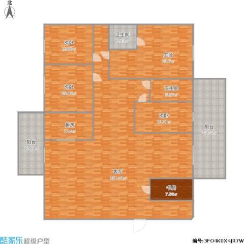 宇宏・健康花城二期5室1厅2卫1厨386.00㎡户型图