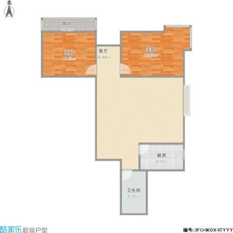 黄金嘉园2室1厅1卫1厨113.00㎡户型图