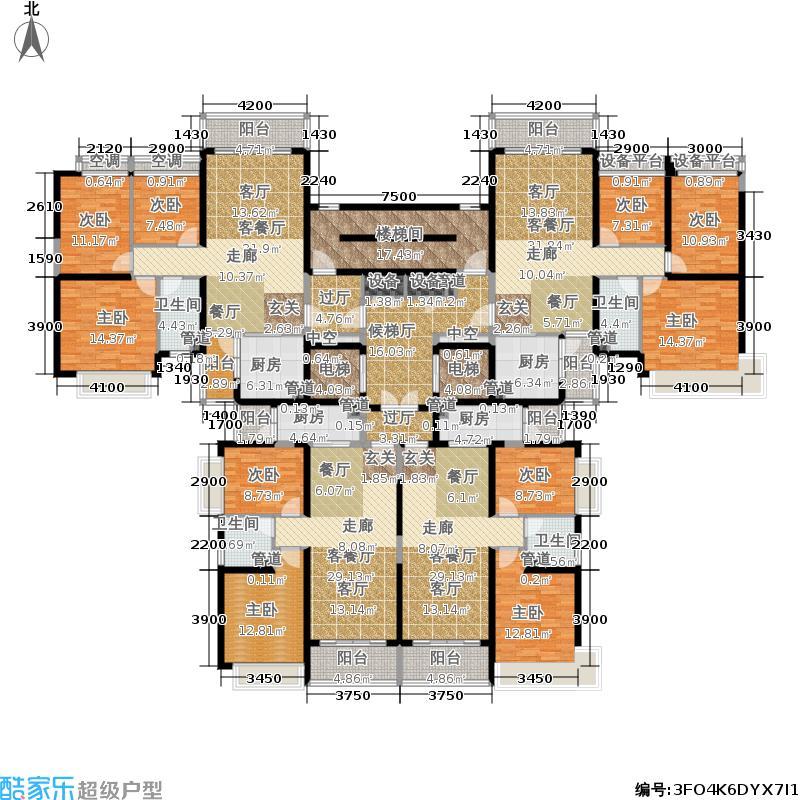 太原恒大山水城太原恒大山水城户型图6号楼2单元标准层平面示意图(2/10张)户型10室