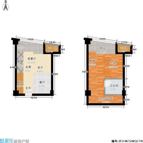 金达利21码头1室1厅1卫0厨51.41㎡户型图