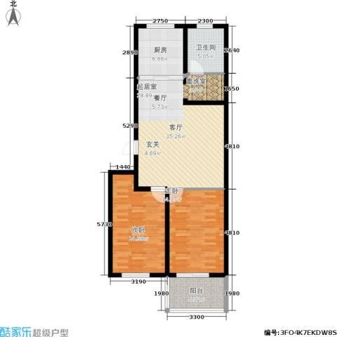 龙凤花园2室0厅1卫1厨85.00㎡户型图