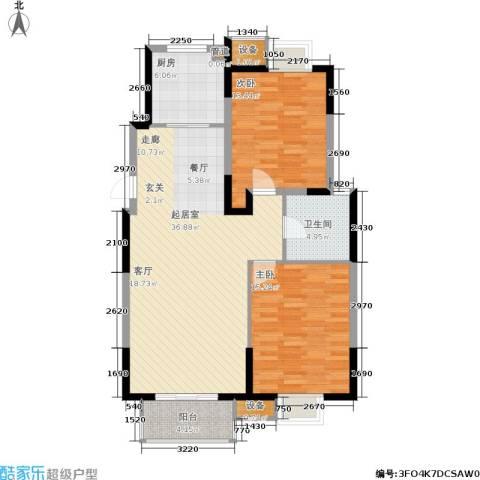 江南文枢苑二期2室0厅1卫1厨116.00㎡户型图