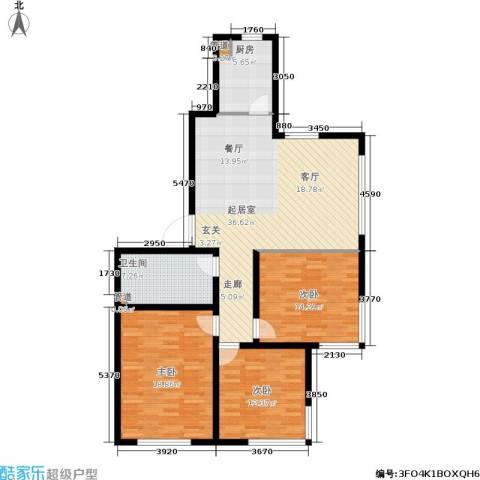 巴黎经典花园3室0厅1卫1厨134.00㎡户型图