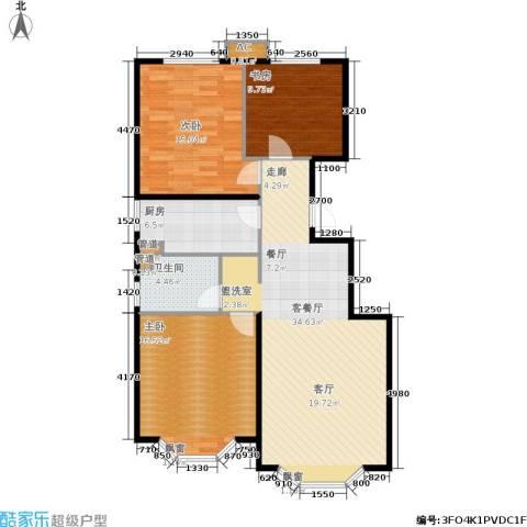 首创・伊林郡3室1厅1卫1厨93.00㎡户型图