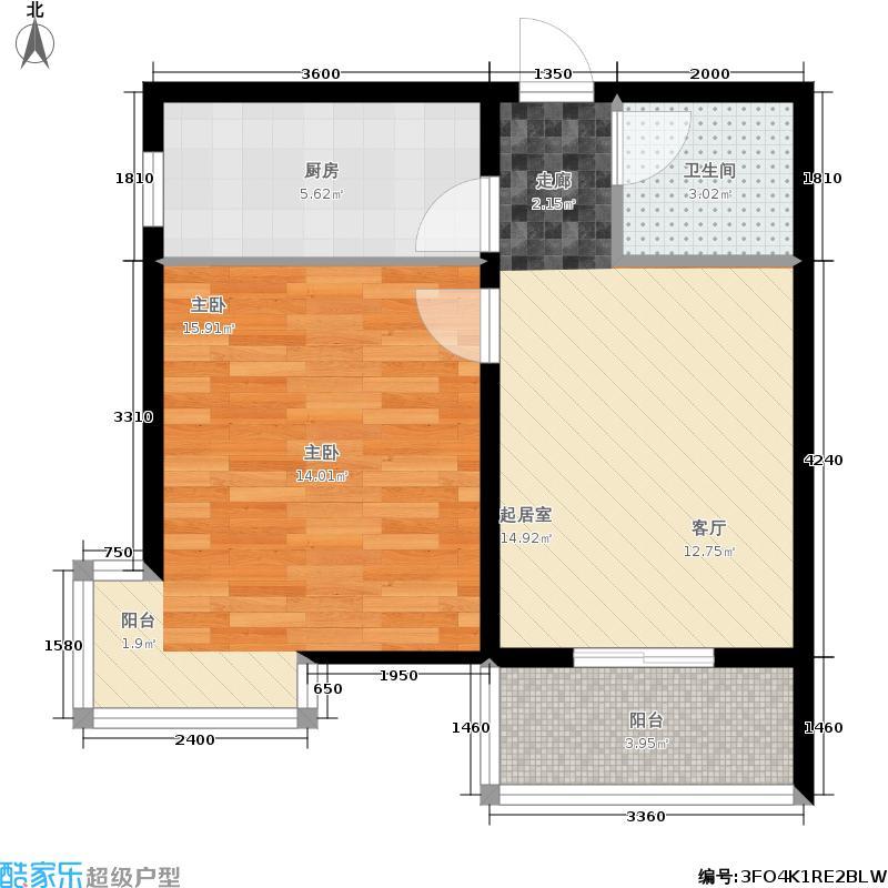 天顺家园64.40㎡G5户型1室1厅