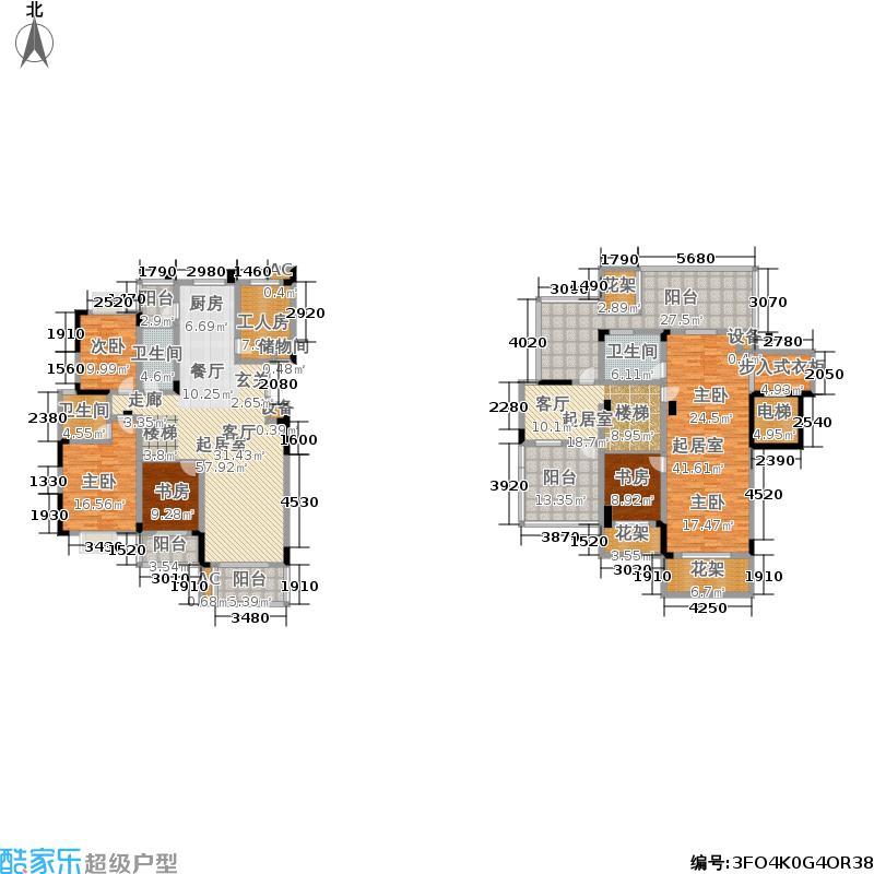 香滨湾花园265.00㎡金海香滨湾户面积26500m户型